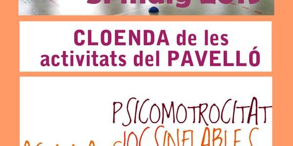 Cloenda activitats pavelló curs 2018/2019