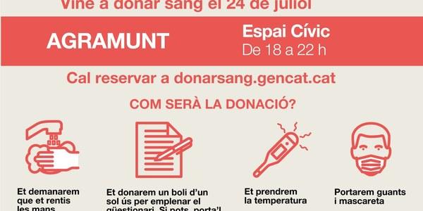 Donació de sang a Agramunt