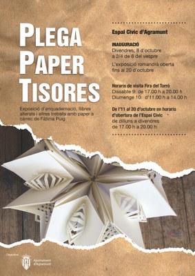 Plega, paper i tisores_cartell