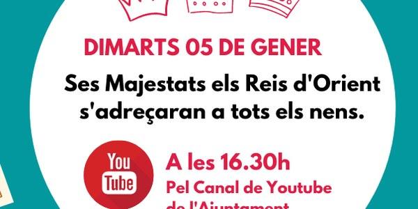MISSATGE PER YOUTUBE DELS REIS D'ORIENT