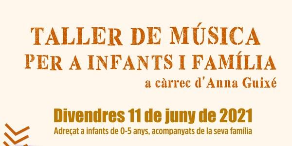 Taller de música per a infants i famílies
