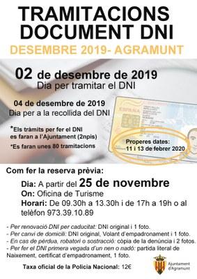 Tramitacions DNI_Desembre 2019