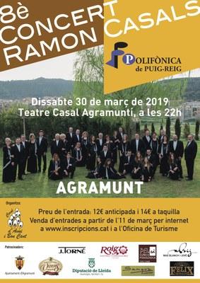 Cartell 8è Concert Ramon Casals