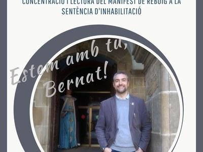 ACTE DE SUPORT A BERNAT SOLÉ