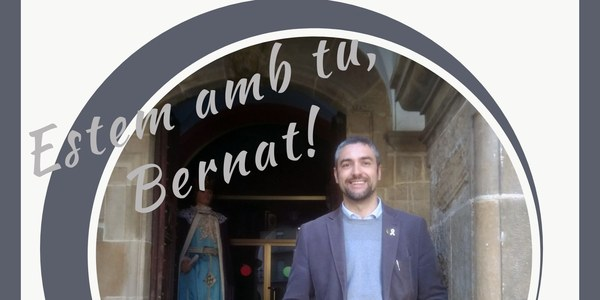 Cartell de suport a Bernat Solé
