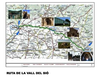 Tram Ruta Via Verda Vall del Sió