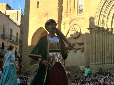 Agramunt presenta el seu nou gegant el Rei de Tremissèn