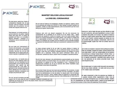 Agramunt s'afegeix al manifest #Aturemelcovid19