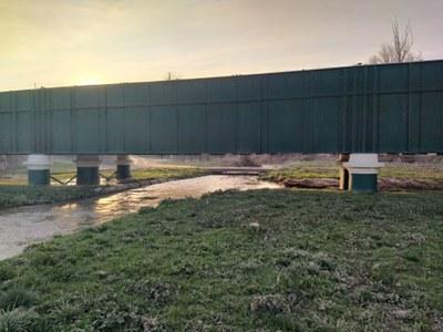 Ampliació de la via verda que va paral·lela al Riu Sió