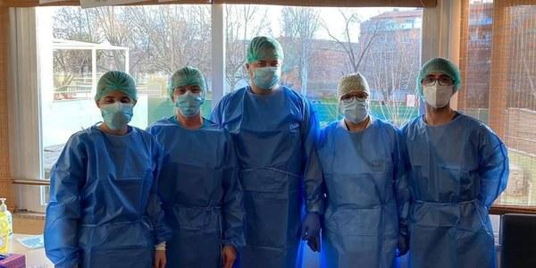 Imatge de l'equip de vacunació.
