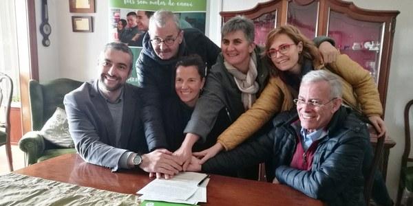 Signatura del conveni de cessió de Cal Carreter