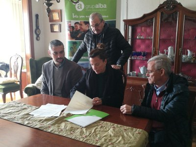 Signatura conveni Cal Carreter