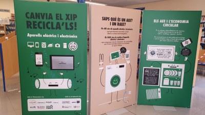 Campanya per fomentar el reciclatge d'aparells elèctrics i electrònics a la biblioteca
