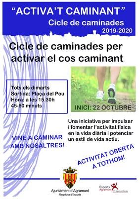 """CICLE DE CAMINADES """"ACTIVA'T CAMINANT"""""""