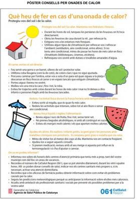 Consells per fer front a la pujada de les temperatures i evitar cops de calor