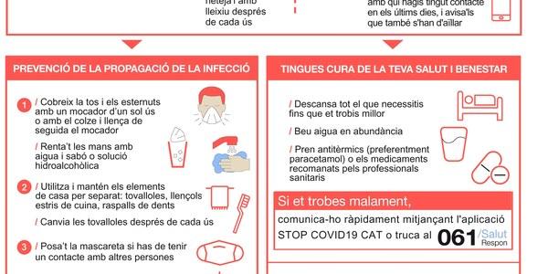 Infografia editada pel departament de Salut