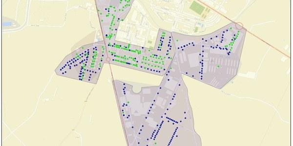 Mapa d'Agramunt amb la 2a fase de desplegament de la fibra optica