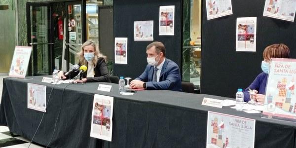 Roda de premsa de la presentació de la 36a Fira de Santa Llúcia
