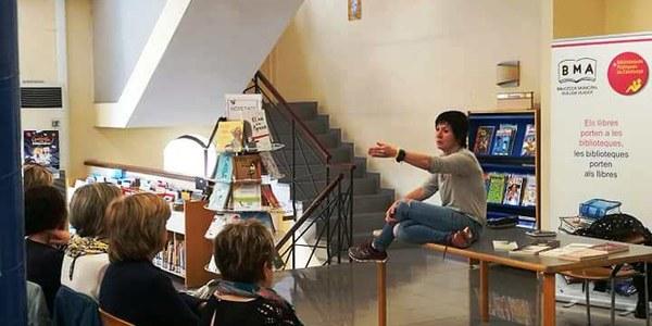 Empar Moliner presenta el seu llibre a Agramunt