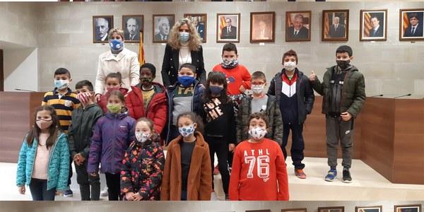 Visita dels alumnes de 3r de l'escola Macià-Companys.