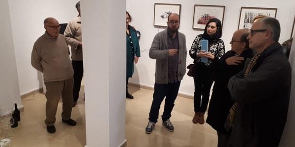 Ferrana Lega explica la seva exposició al públic assistent