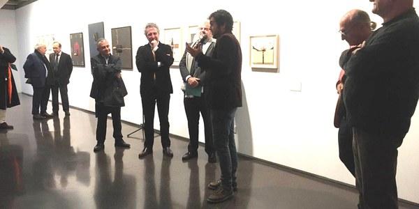 "Inauguració de l'exposició ""Joan Brossa-Guillem Viladot: Alfabeto desbaratado. Poemas visuales, objetos y libros"""