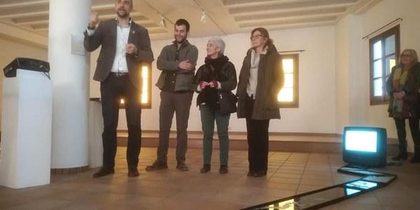 Inauguració de la mostra a l'edifici de Lo Pardal