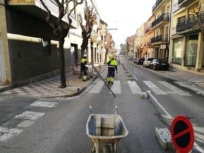 Inici de les obres de remodelació de l'Avinguda Jaume Mestres