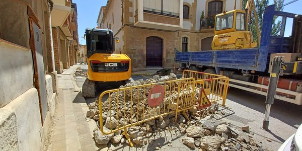 Inici obres del carrer Raval de Puigverd