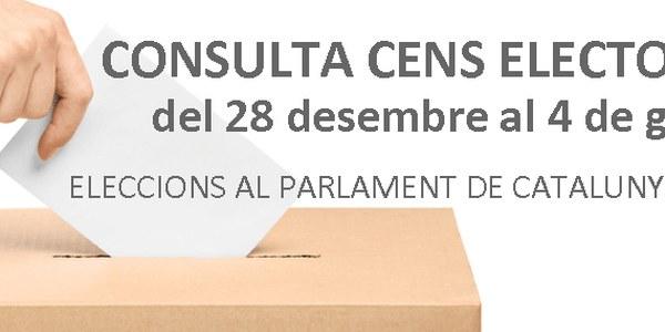 JA ES POT CONSULTAR EL CENS ELECTORAL PER A LES ELECCIONS DEL 14 DE FEBRER