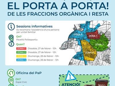 L'AJUNTAMENT CONVOCA ELS VEÏNS D'AGRAMUNT PER EXPLICAR-LOS LA RECOLLIDA PORTA A PORTA