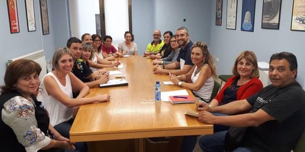 Imatge de la reunió mantinguda a les dependències municipals.