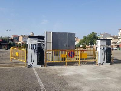 L'Ajuntament d'Agramunt instal·la dos punts de càrrega de vehicles