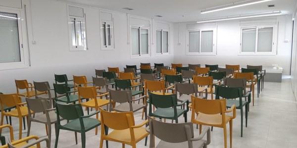 Imatge d'una de les sales interiors de l'Espai Cívic.