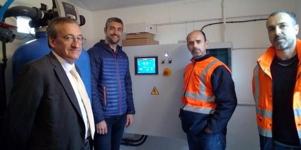 Visita a la potabilitzadora que s'ha fet aquest matí amb l'alcalde d'Agramunt Bernat Solé i responsables de CASSA.