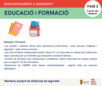 Fase 2 Desconfinament_Agramunt