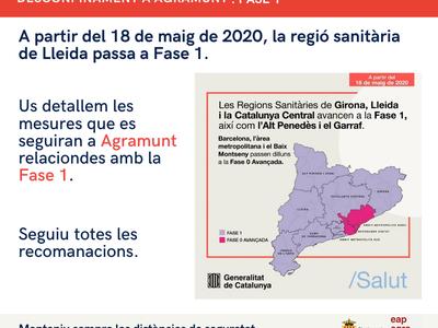 La regió sanitària de Lleida entrarà el 18 de maig a la Fase 1 del desconfinament