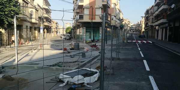 La reordenació dels carrers Jaume mestres i Agustí Ros estarà en funcionament aquesta setmana