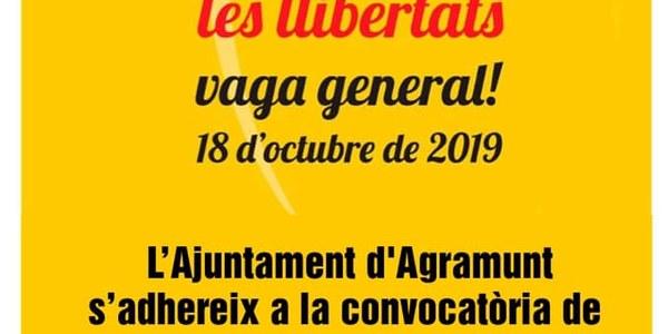 L'Ajuntament d'Agramunt s'adhereix a la Vaga