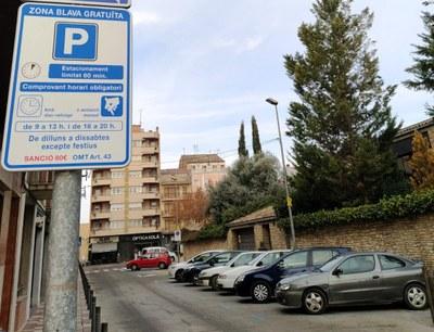 Regulació zones blaves aparcament