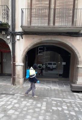 Treballs desinfecció carrers coronavirus