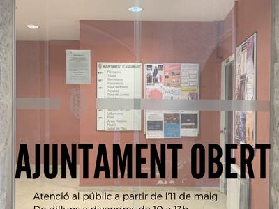 L'Ajuntament obre les oficines per atendre els ciutadans