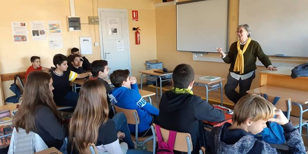 Taller de narrativa realitzat a l'institut amb Carme Ripoll