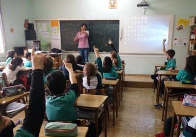 Taller de poesia a l'escola Mare de Déu del Socós amb Meritxell Cucurella-Jorba