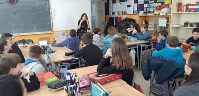 Taller de narrativa a l'escola Macià-Companys amb Mireia Broca