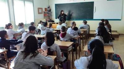 Taller de narrativa a l'escola Mare de Déu del Socós amb Mireia Broca