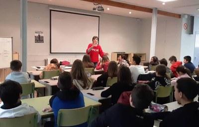 Taller de poesia a l'institut amb Meritxell Cucurella-Jorba
