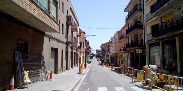 L'avinguda Jaume Mestres en obres.