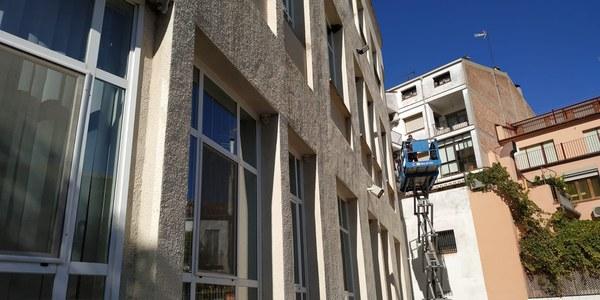 Instal·lacions proteccions solars a l'escola Macià- Companys