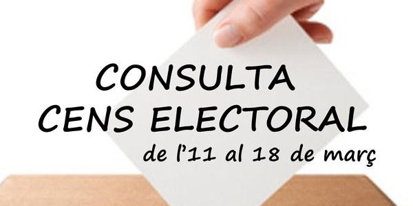 Consulta cens electoral eleccions 2019